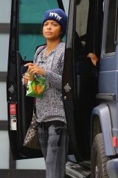 Christina Milian - Heads to the Gym in Los Angeles