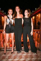 Christine Evangelista and Ashley Greene at Versace Mansion in Miami