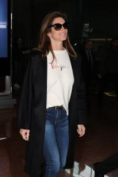Cindy Crawford and Kaia Gerber at Charles de Gaulle Airport in Paris