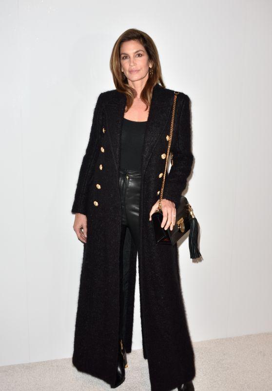 Cindy Crawford - The Balmain Homme Show at the Paris Fashion Week