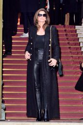 Cindy Crawford - The Balmain Homme Show at the Paris Fashion Week
