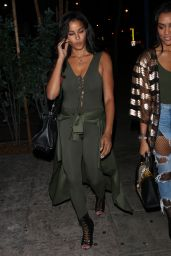 Claudia Jordan Heads to the Delilah Restaurant in West Hollywood