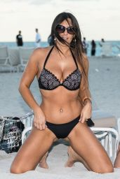 Claudia Romani and Bella Bond in Bikinis n Miami Beach 01/14/2018