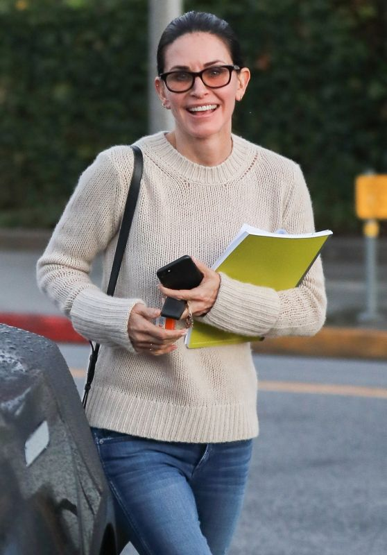 Courteney Cox in Casual Outfit in Beverly Hills 01/09/2018