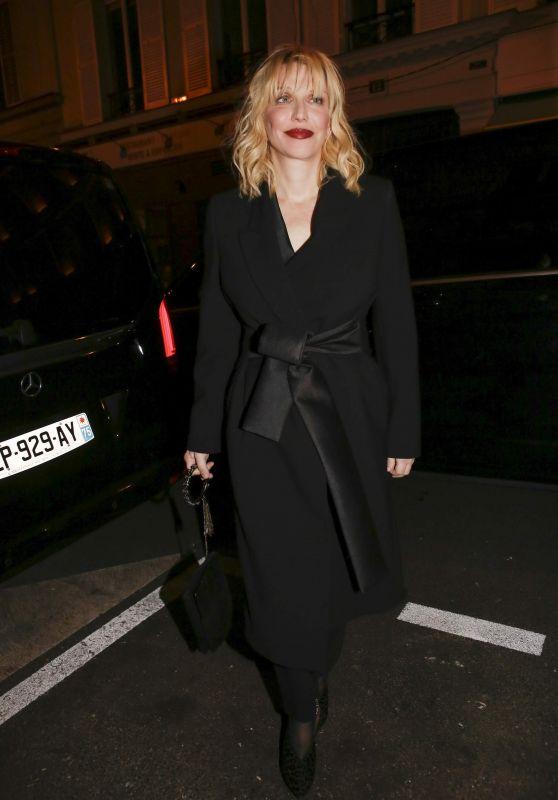 Courtney Love at Yves Saint Laurent Night – Paris Fashion Week 01/17/2018