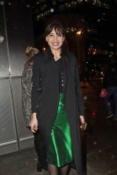 Daisy Lowe Night Out Style - Heron Tower in London 01/30/2018