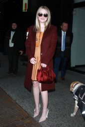 "Dakota Fanning Arriving to Appear on ""Good Morning America"" in NYC"