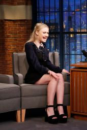 Dakota Fanning at Late Night With Seth Meyers in New York