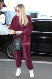 Dakota Fanning in Travel Outfit at LAX Airport in Los Angeles