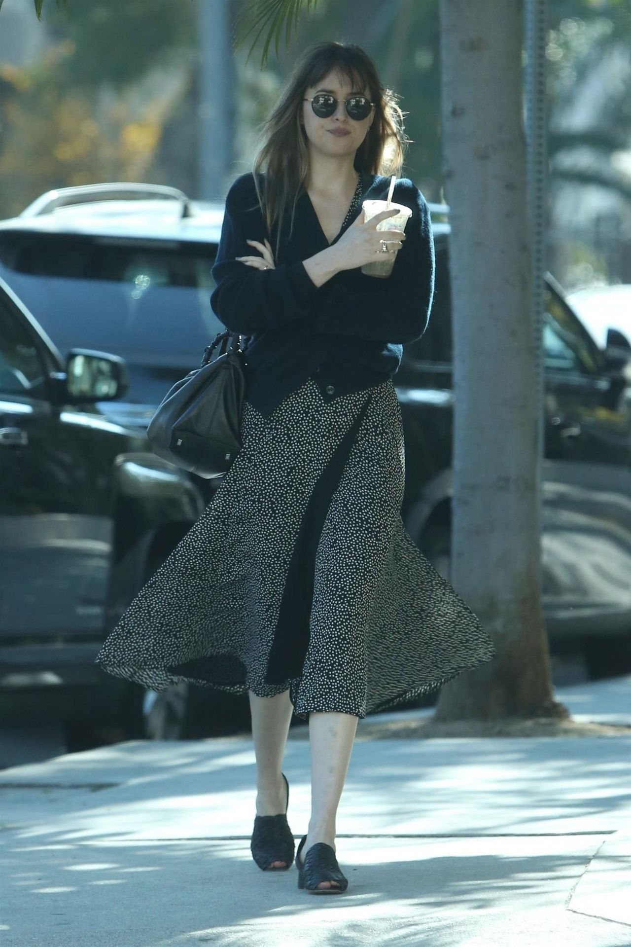 Dakota Johnson in Casual Outfit Out in West Hollywood