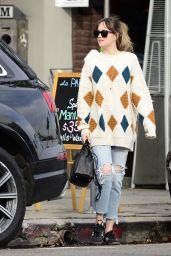 Dakota Johnson in Oversized Sweater Out in LA