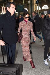 David and Victoria Beckham Arriving in Paris 01/17/2018