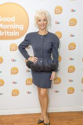 Debbie McGee Appeared on Good Morning Britain TV Show in London