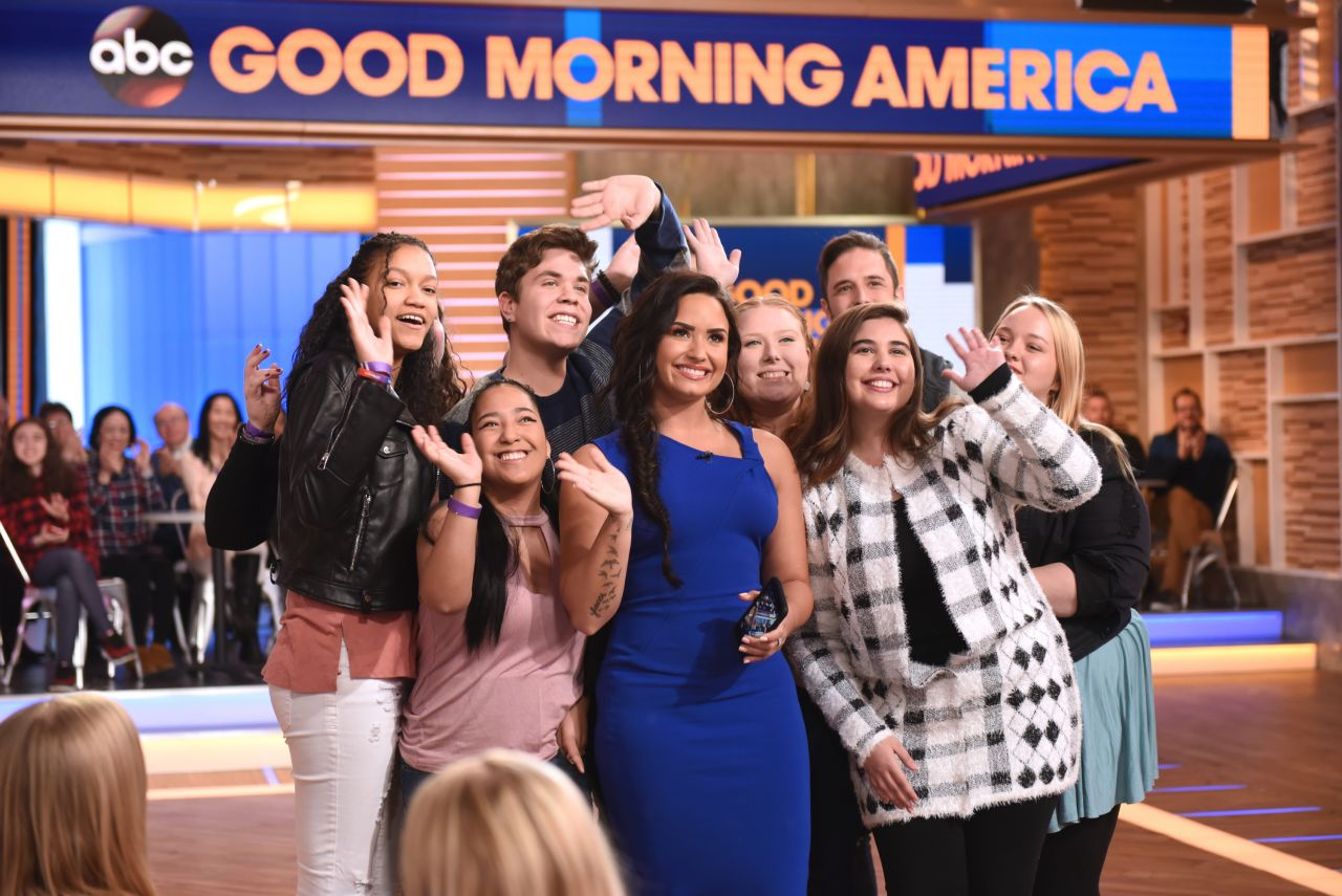 Good Morning America Nyc : Demi lovato abc s good morning america in nyc