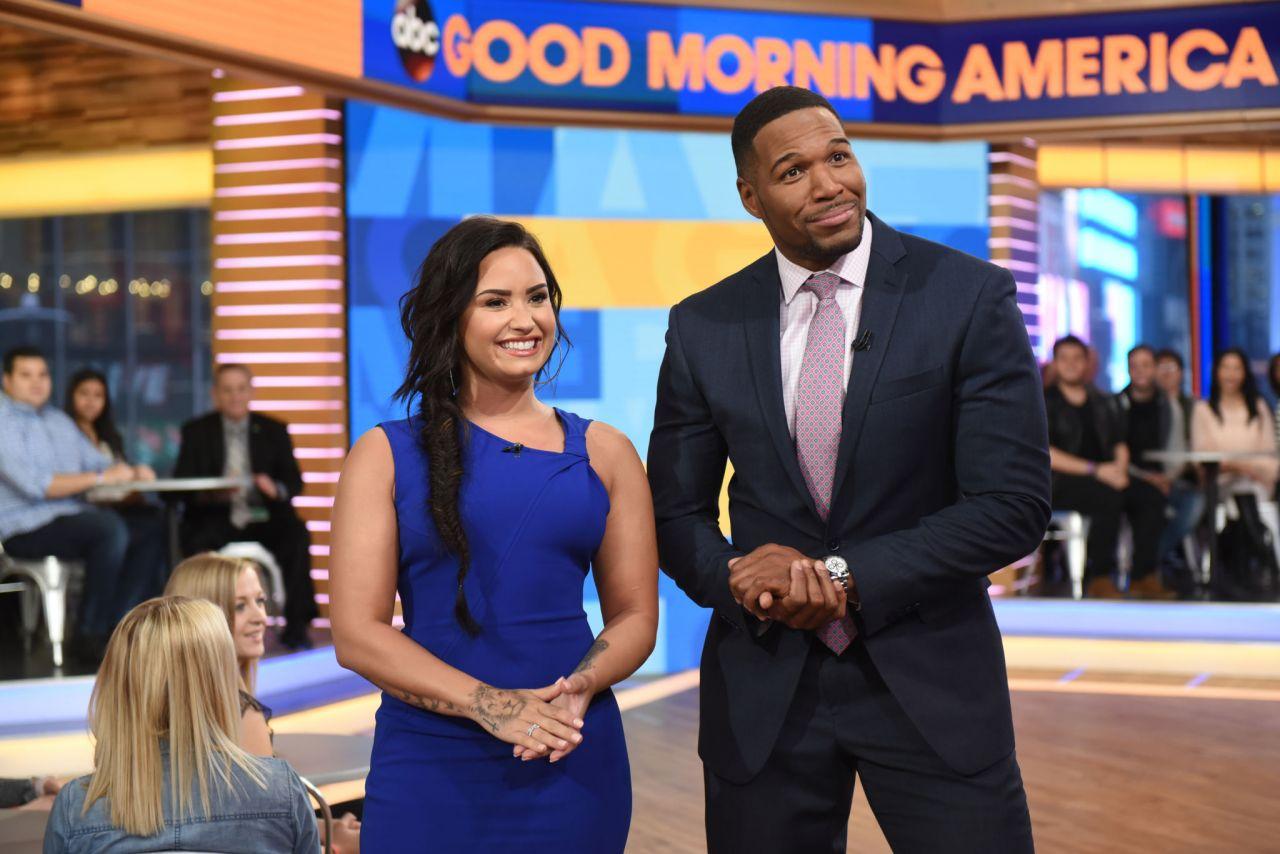 Good Morning America Abc : Demi lovato abc s good morning america in nyc