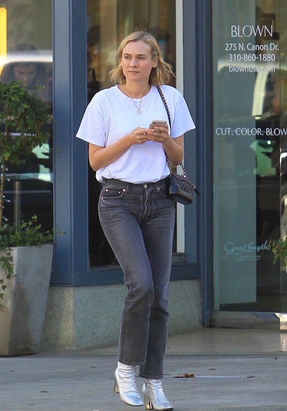 Diane Kruger in Casual Outfit Runs Errands in Beverly Hills