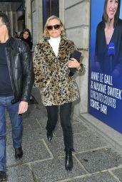 Diane Kruger Leaving Europe 1 Radio Station in Paris