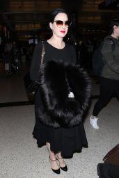 Dita Von Teese Arrives in Los Angeles 01/30/2018