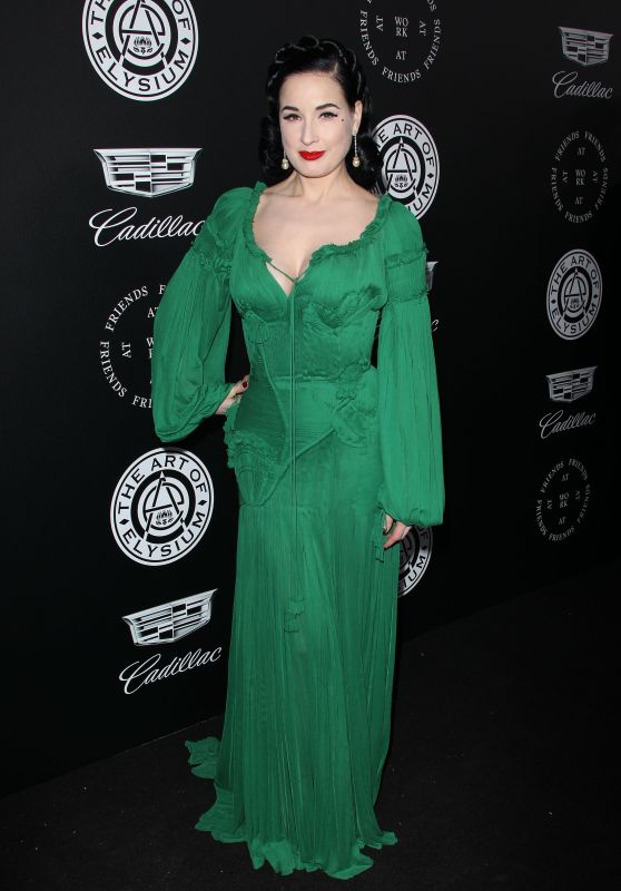 "Dita Von Teese – The Art of Elysium Black Tie Artistic Eperience ""Heaven"" in Santa Monica"