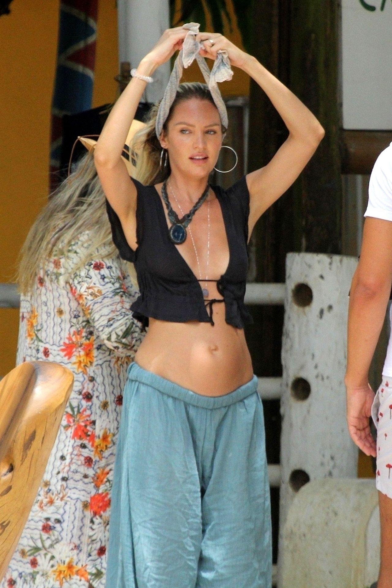 Candice Swanepoel and Doutzen Kroes in Bikini at Espelho Beach in Bahia Pic 10 of 35