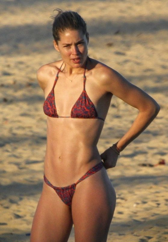 Doutzen Kroes in Bikini - Bahia Beach in Brazil