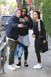 Draya Michele and Orlando Scandrick Shopping in Beverly Hills