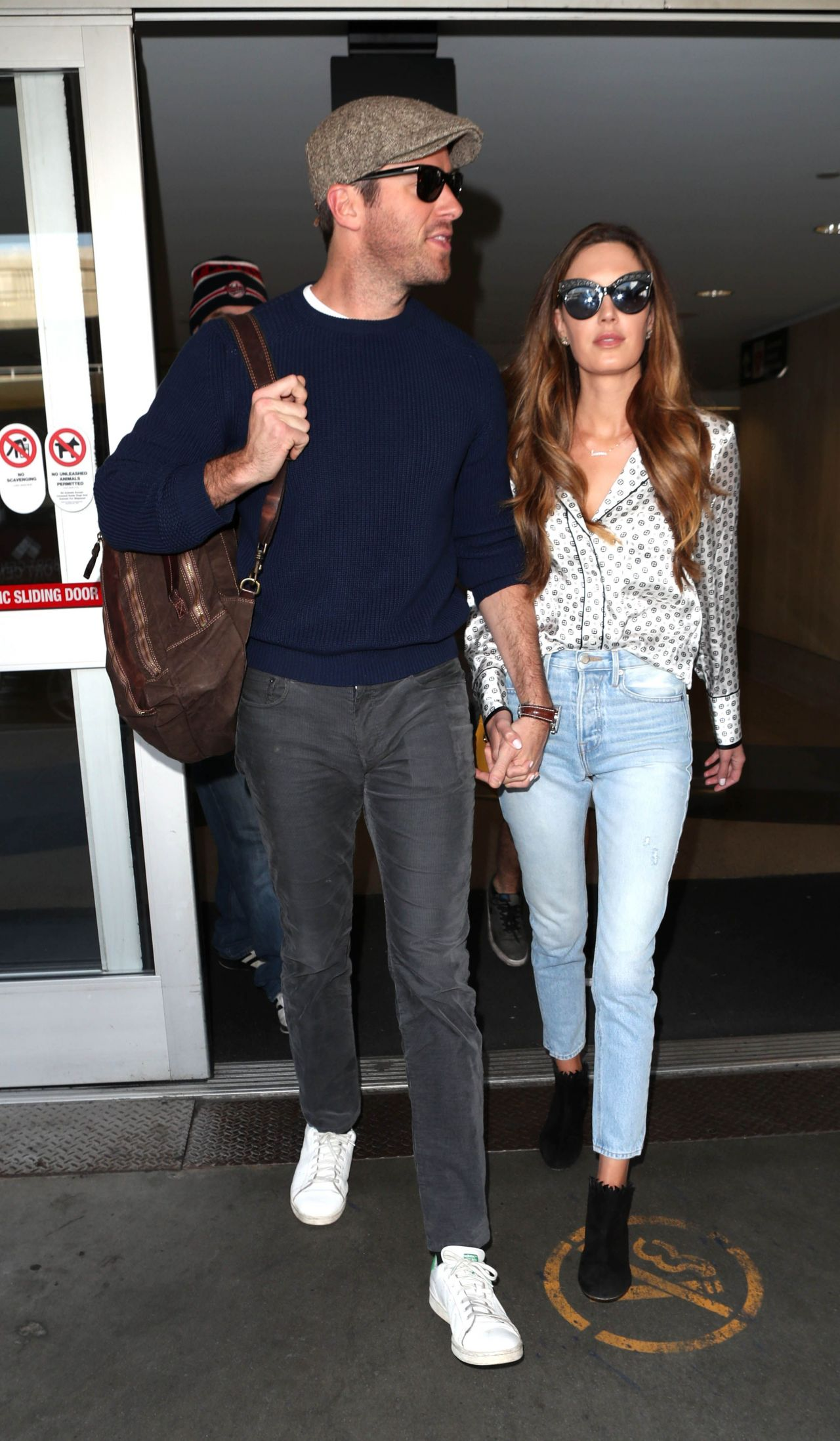 Elizabeth Chambers And Armie Hammer At Lax International