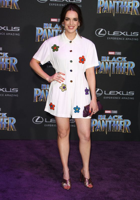 "Elizabeth Henstridge – ""Black Panther"" Premiere in Hollywood"