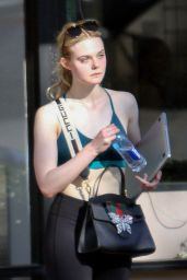 Elle Fanning Finishes Her Weekend Workout