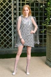 Ellie Bamber at Chanel Paris Fashion Week, January 2018