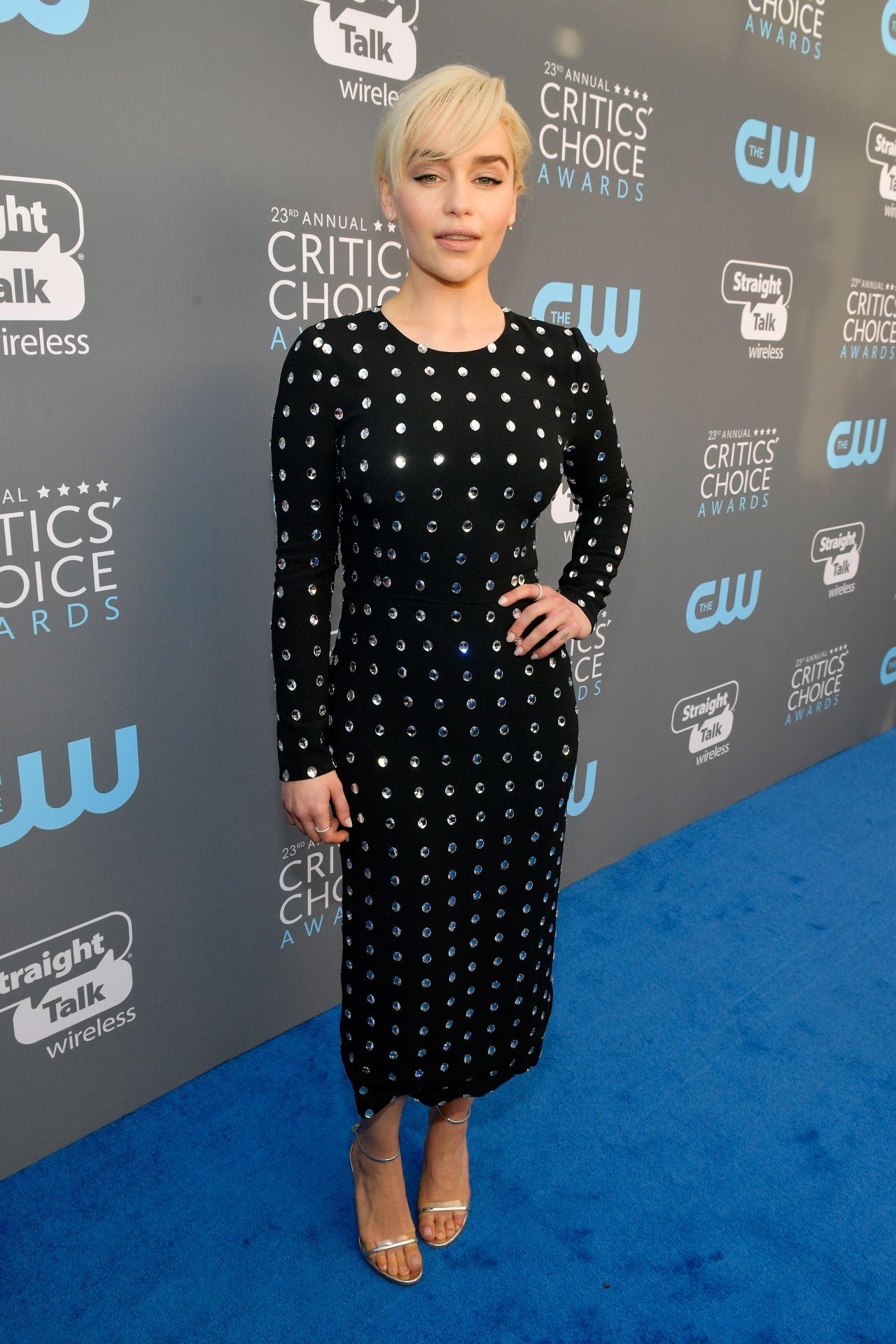 Emilia Clarke 2018 Critics Choice Awards