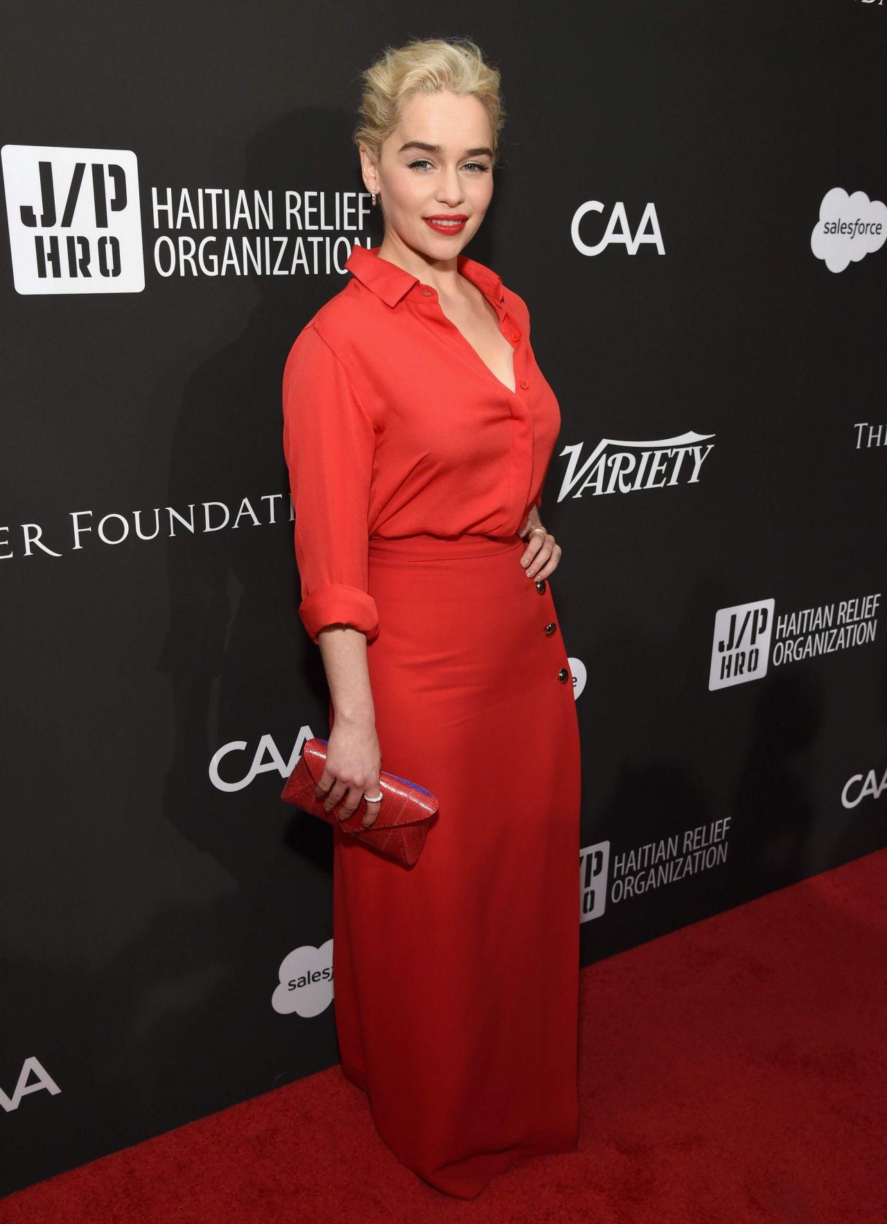 Emilia Clarke Sean Penn Amp Friends Haiti Rising Gala In