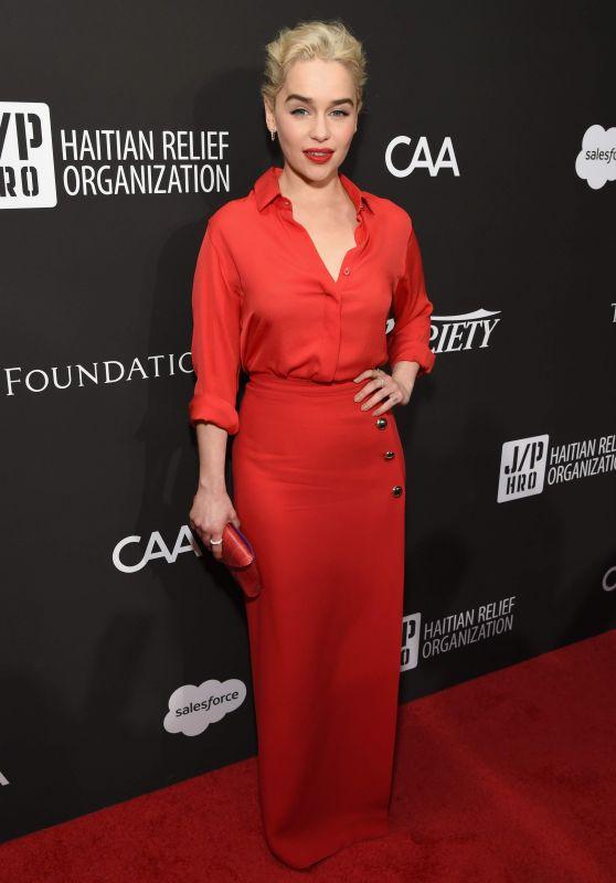 Emilia Clarke - Sean Penn & Friends HAITI RISING Gala in Hollywood