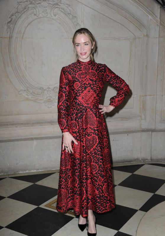 Emily Blunt - Christian Dior Haute Couture Spring Summer 2018 Show in Paris