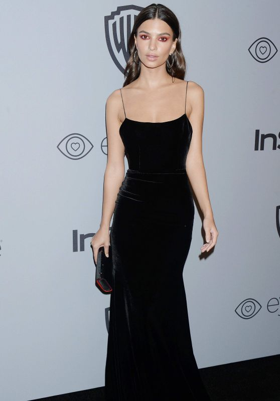 Emily Ratajkowski – InStyle and Warner Bros Golden Globes 2018 After Party