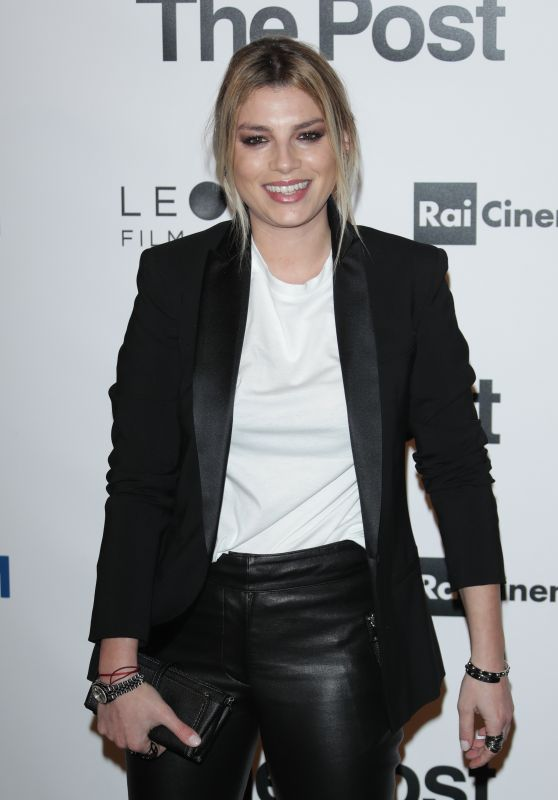 """Emma Marrone - """"The Post"""" Red Carpet in Milan"""