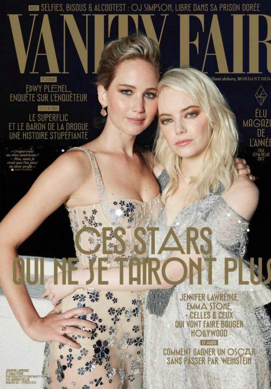 Emma Stone and Jennifer Lawrence - Vanity Fair Magazine France February 2018 Issue