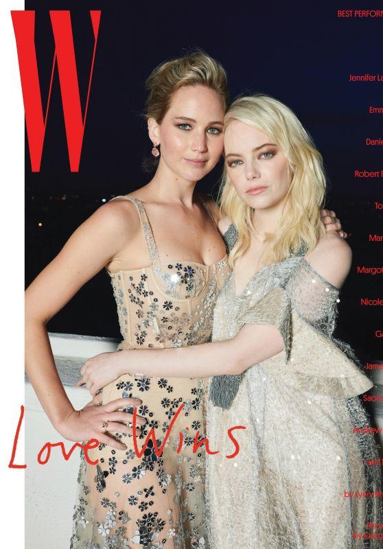 Emma Stone and Jennifer Lawrence - W Magazine January 2018