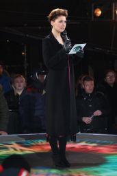 Emma Willis - Celebrity Big Brother Eviction Night at Esltree Studios in London 01/18/2018