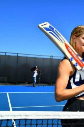 Eugenie Bouchard - Hobart Hit with George Bailey 2018