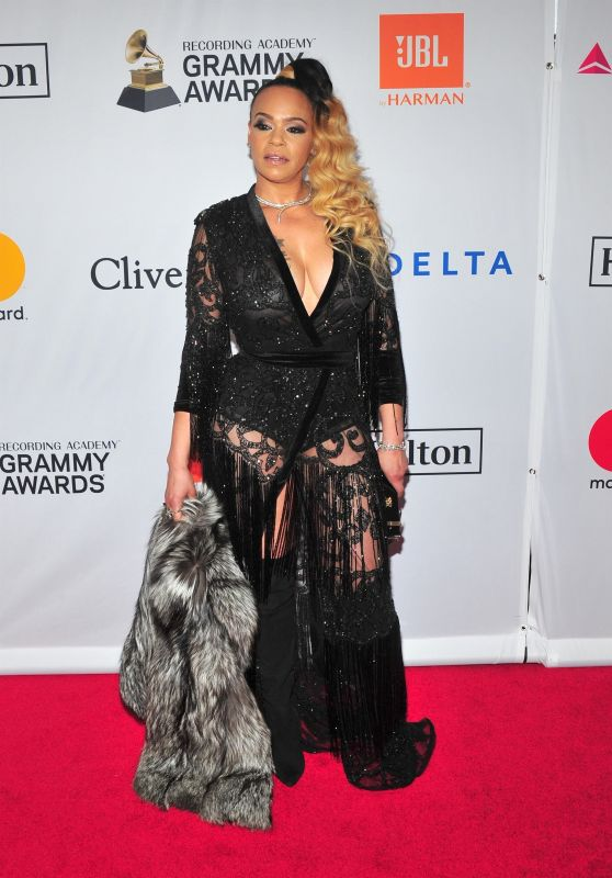 Faith Evans – Clive Davis and Recording Academy Pre-Grammy Gala in NYC