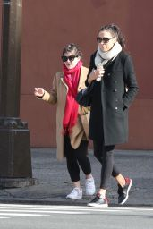 Famke Janssen and Madeleine Martin - Leaving a Gym in Soho 01/27/2018
