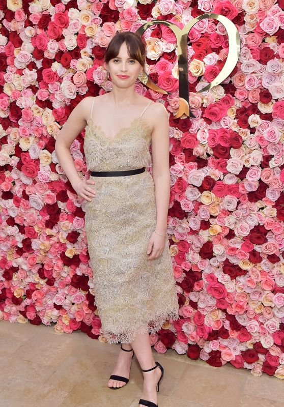 Felicity Jones - Cle de Peau Beaute Celebrates the Brand Relaunch in LA