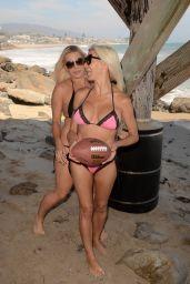 Frenchy Morgan and Suzie Malone Play Bikini Football in Malibu 01/30/2018