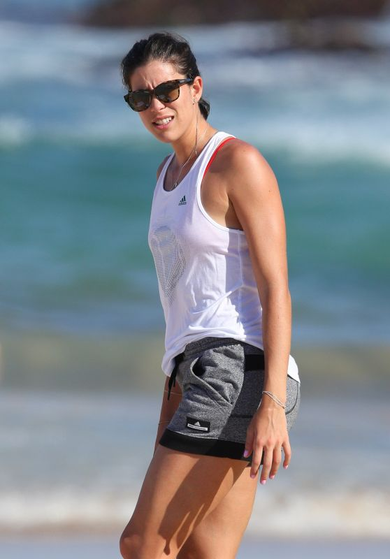 Garbine Muguruza at Bondi Beach in Sydney