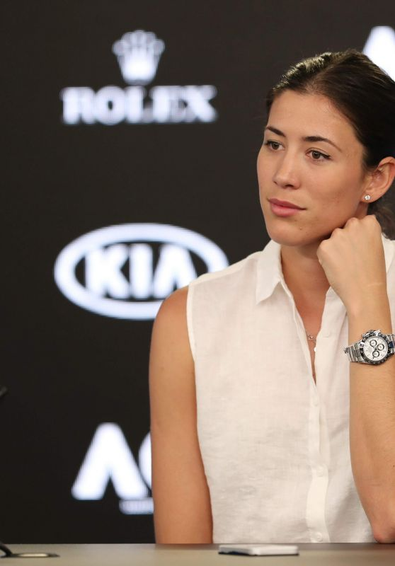 Garbine Muguruza - Australian Open Tennis Championships Press Conference in Melbourne