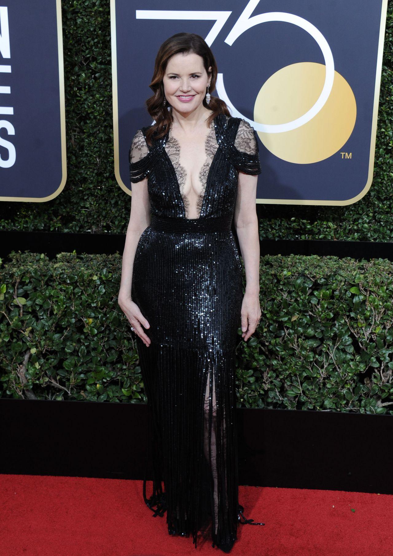 Geena Davis Golden Globe Awards 2018