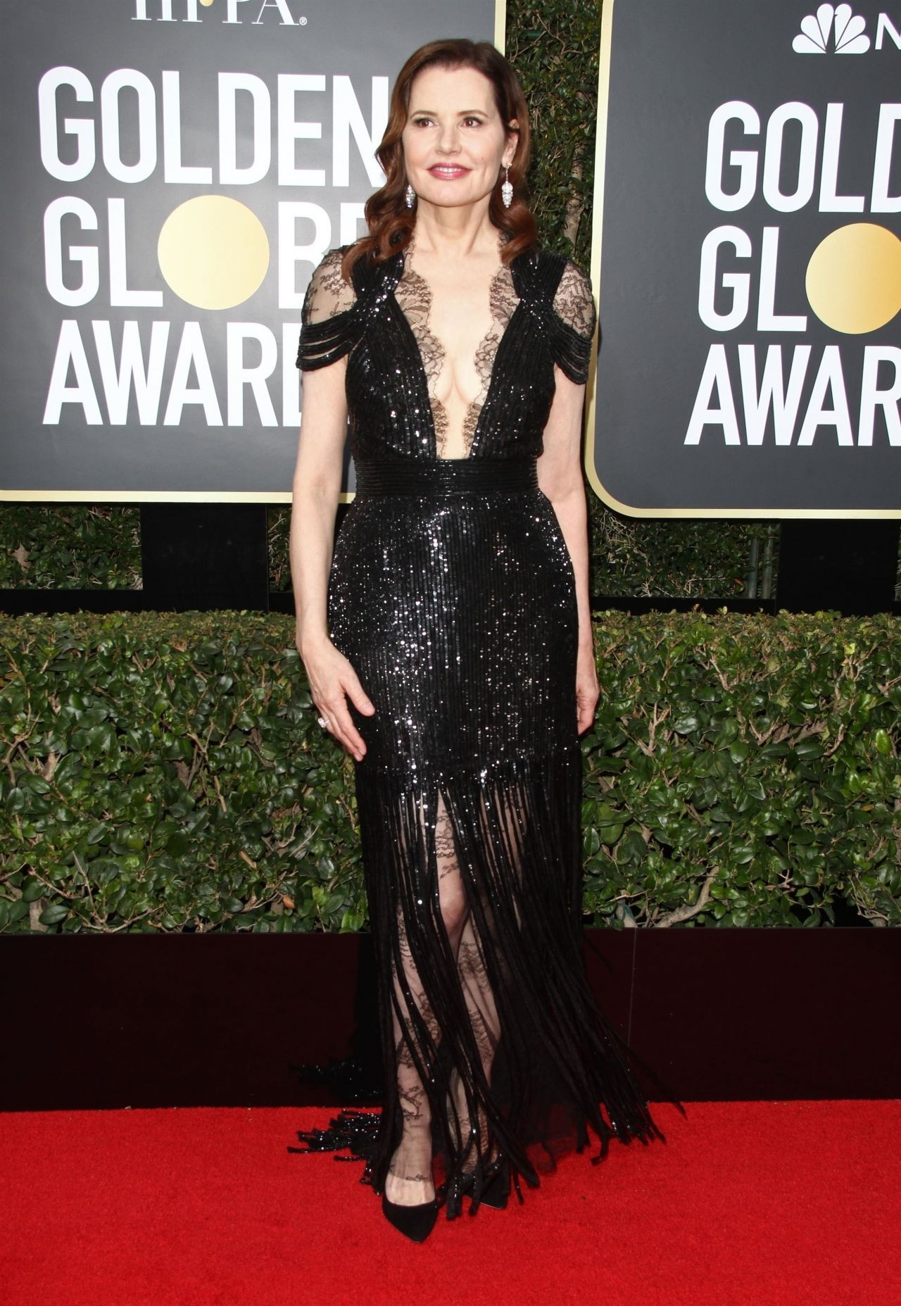 Geena Davis Golden Globe Awards 2018