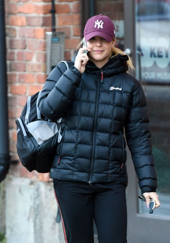 Gemma Atkinson in Workout Gear Leaving Key 103 Radio Station in Manchester