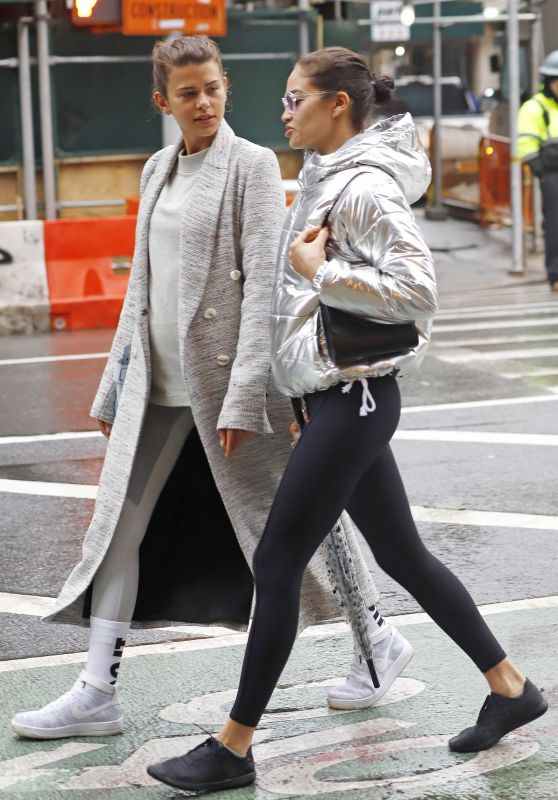 Georgia Fowler and Shanina Shaik - Out in New York City